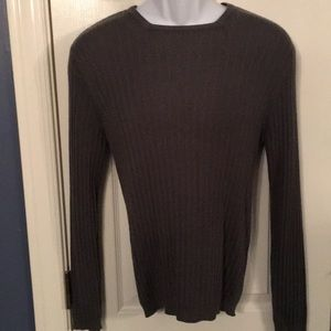 Kenneth Cole Ribbed Charcoal Sweater Size S/P